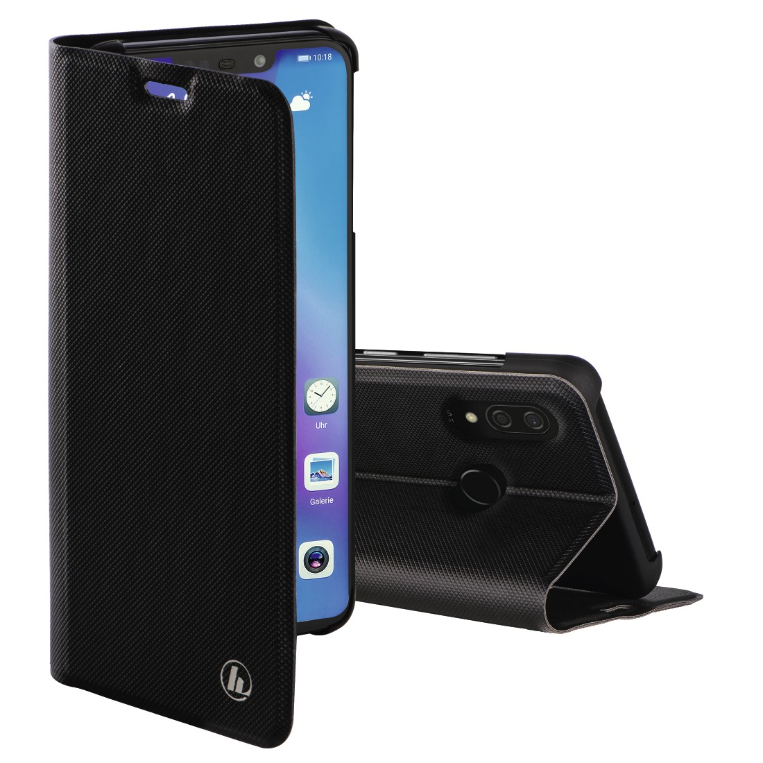 "abx High-Res Image - Hama, ""Slim Pro"" Booklet for Huawei P smart+, black"