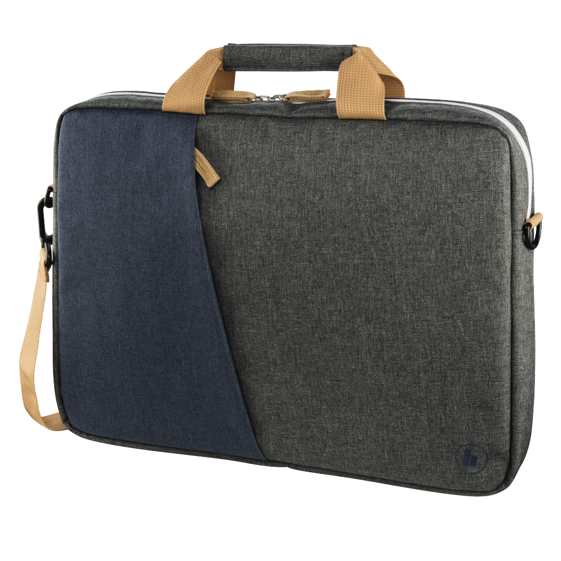"abx High-Res Image - Hama, ""Florence"" Notebook Bag, up to 44 cm (17.3""), marine blue / dark grey"