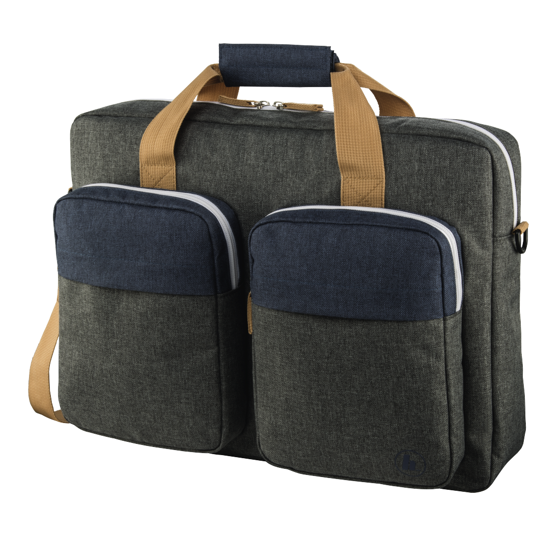 "abx High-Res Image - Hama, ""Florence II"" Notebook Bag, up to 44 cm (17.3""), marine blue / dark grey"
