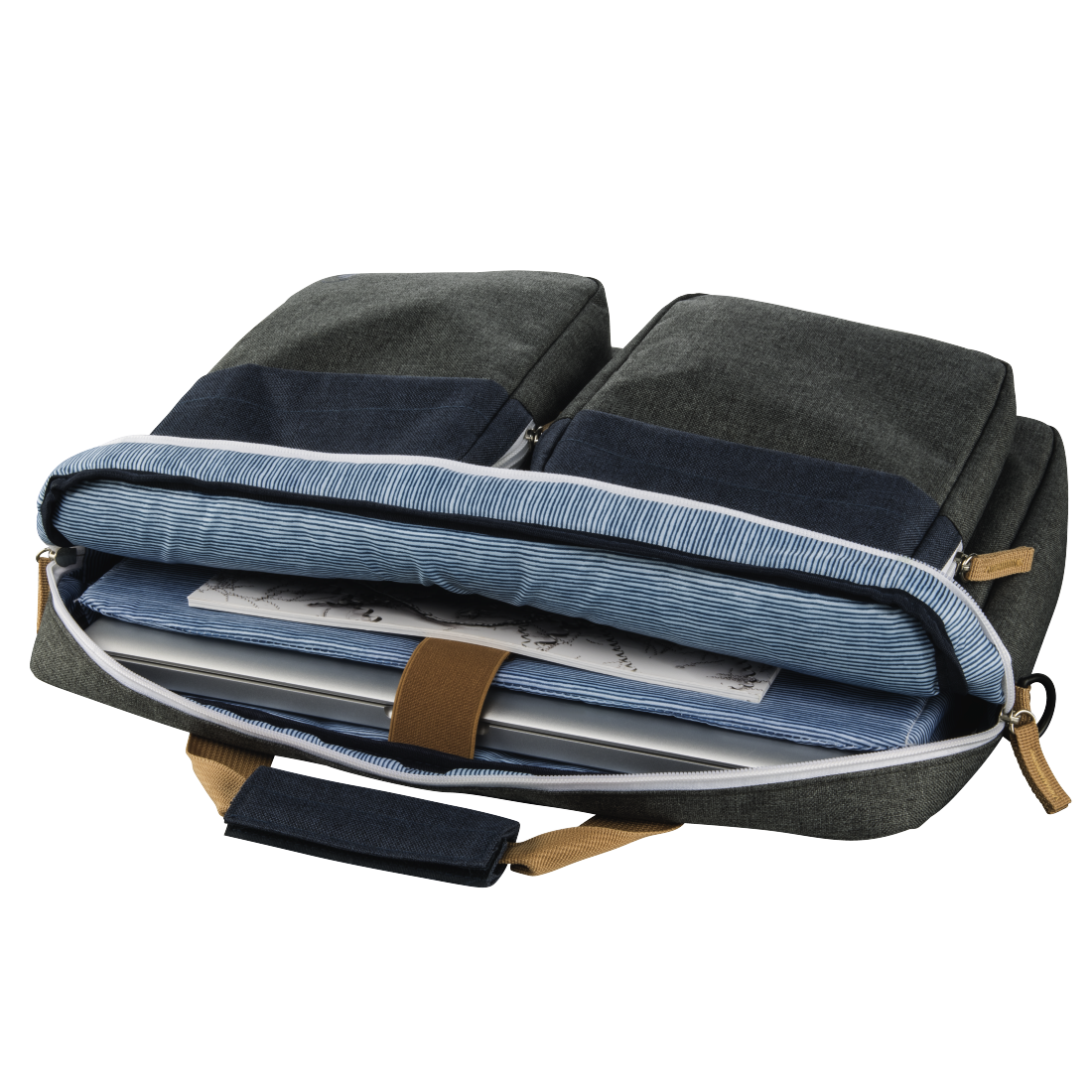 "abx3 High-Res Image 3 - Hama, ""Florence II"" Notebook Bag, up to 44 cm (17.3""), marine blue / dark grey"