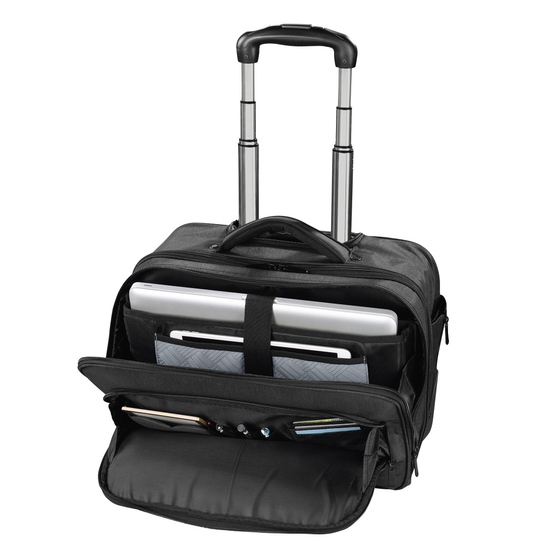 "abx3 High-Res Image 3 - Hama, ""Manchester"" Notebook Trolley, up to 40 cm (15.6""), black"