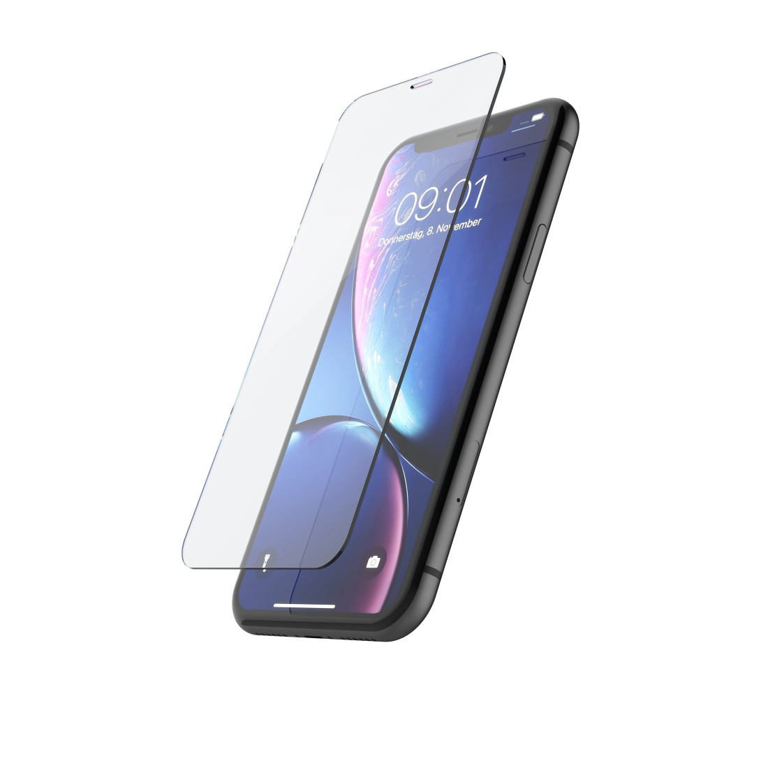 "abx2 High-Res Image 2 - Hama, ""Premium Crystal Glass"" Real Glass Screen Protector for Apple iPhone XR/11"