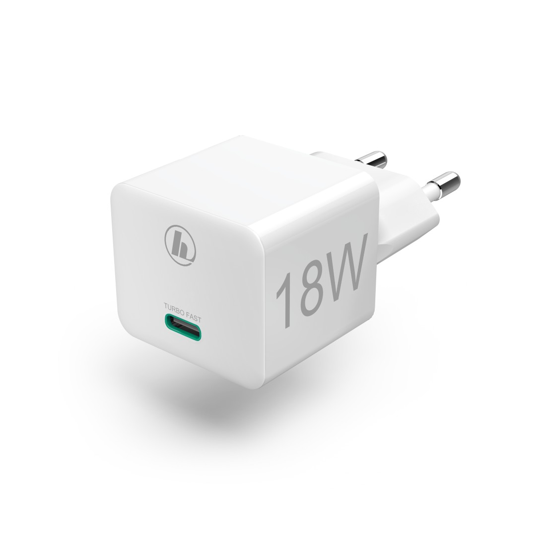 abx High-Res Image - Hama, Mini Charger, USB-C, PD/QC, 18 W, white