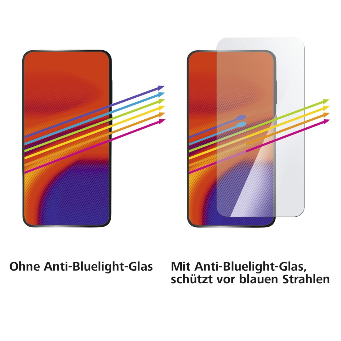 "dex High-Res Detail - Hama, ""Anti-Bluelight"" Real Glass Screen Protector for Apple iPhone X/XS/11 Pro"