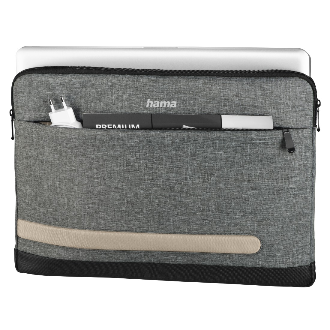 "abx2 High-Res Image 2 - Hama, ""Terra"" Notebook Sleeve, up to 40 cm (15.6""), grey"