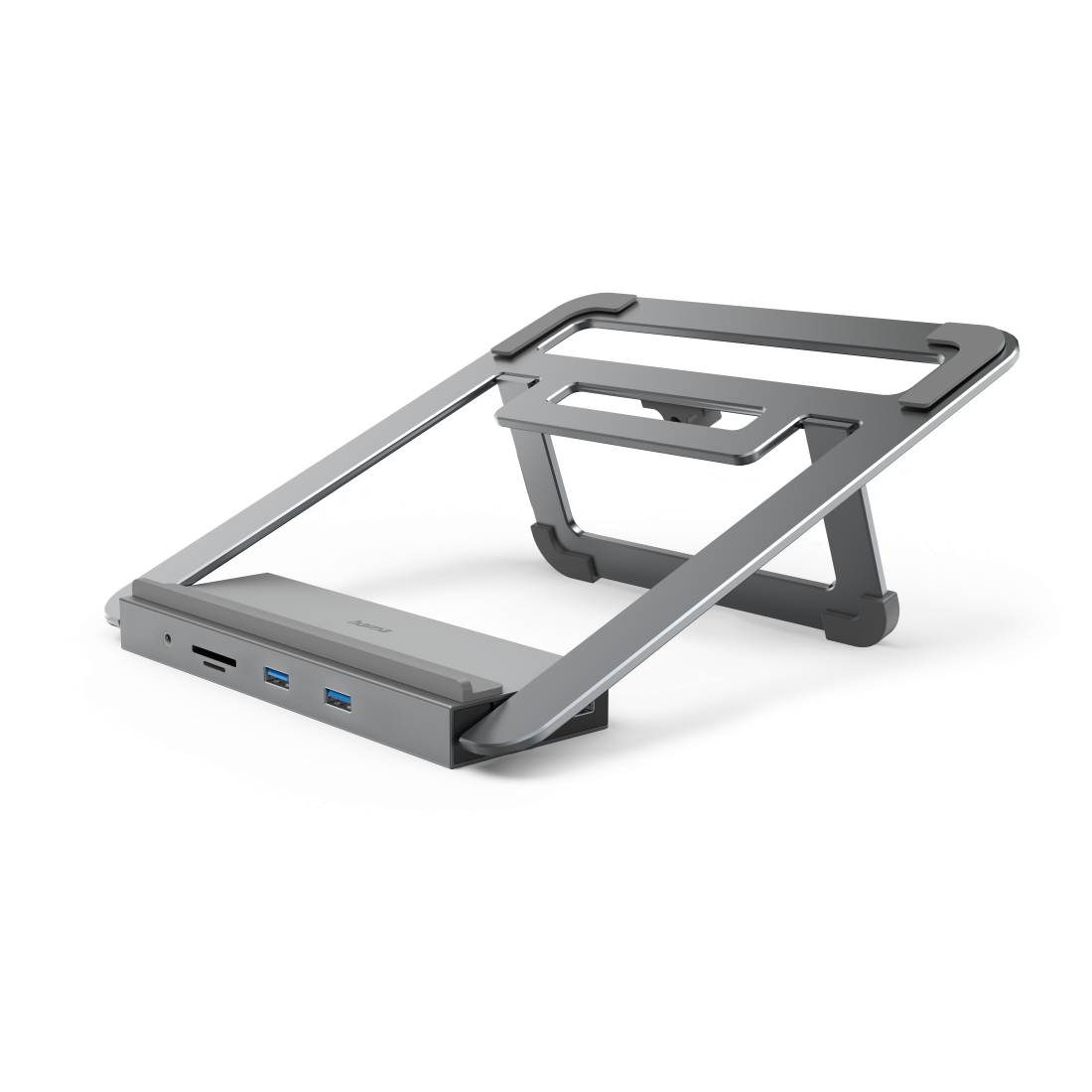 abx4 High-Res Image4 - Hama, USB-C Docking Station with Notebook Stand, 12 Ports